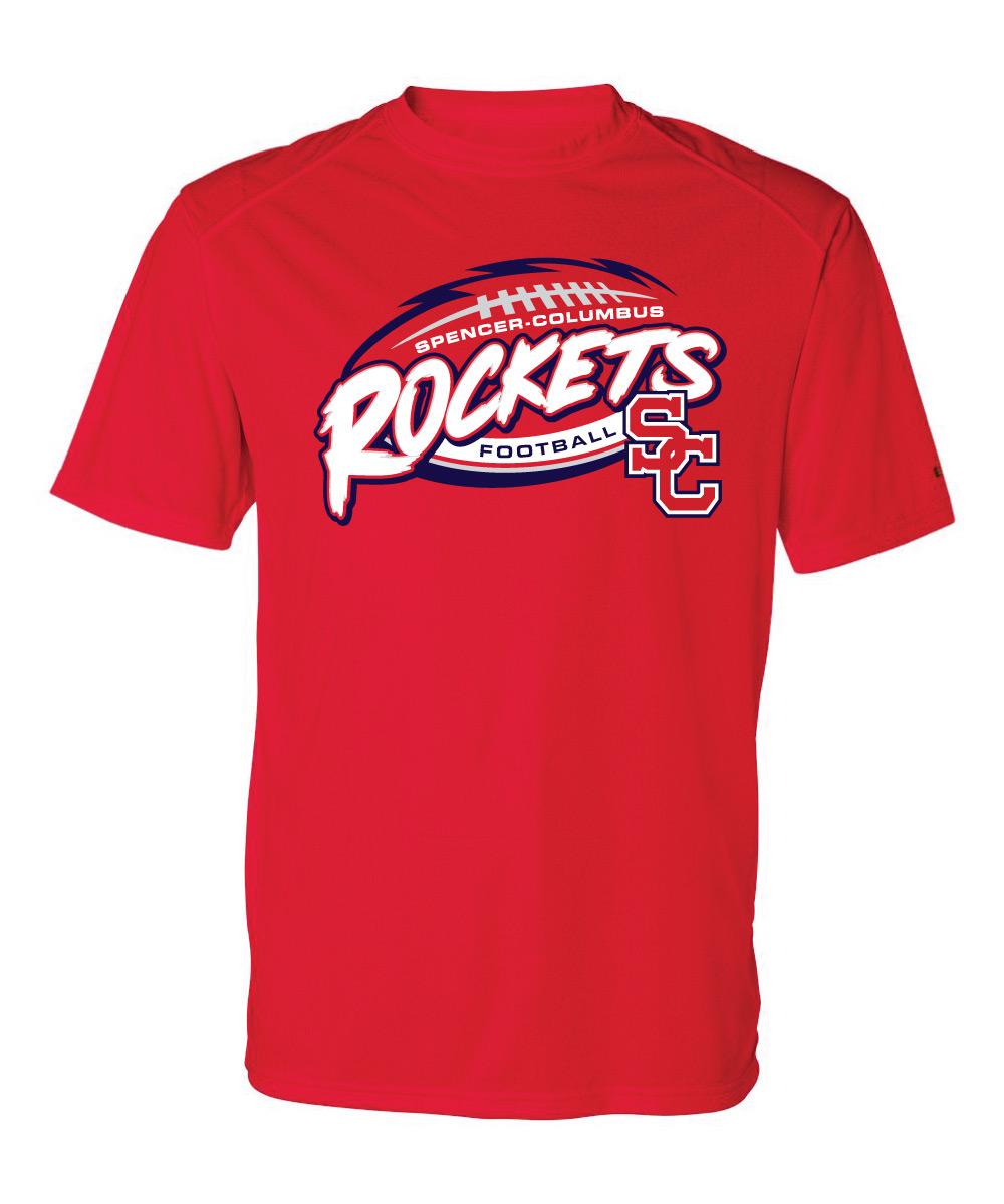 Spencer-Columbus Football T-Shirt