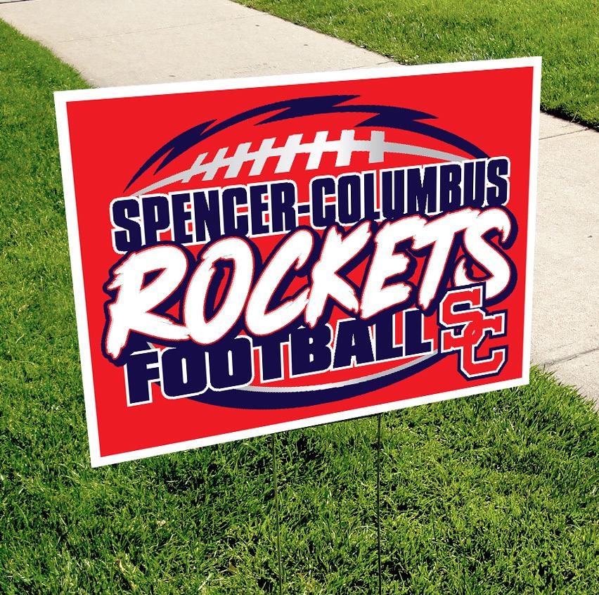 Spencer-Columbus Football Pride Sign